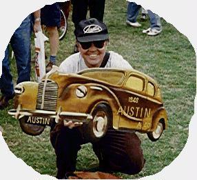 Austin A40 Sports Chrome Hub Cap.